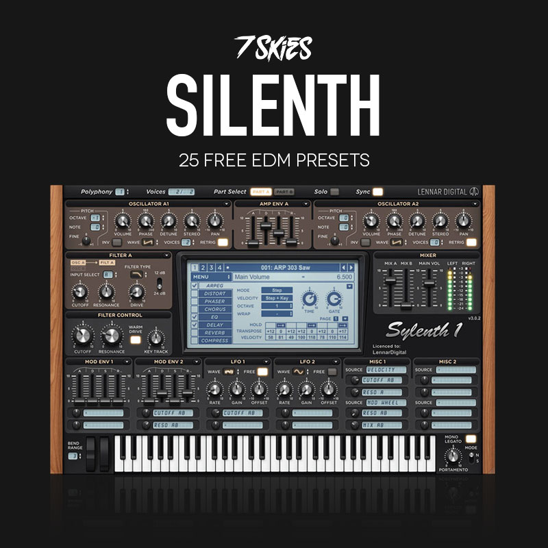FREE SYLENTH EDM PRESETS BY 7 SKIES - Standalone-Music